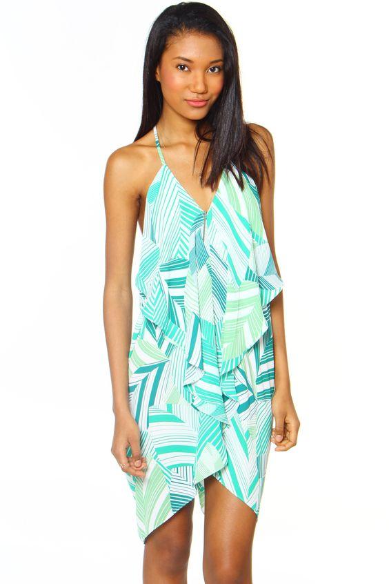 Rollin' In The Deep Dress - Palm Print