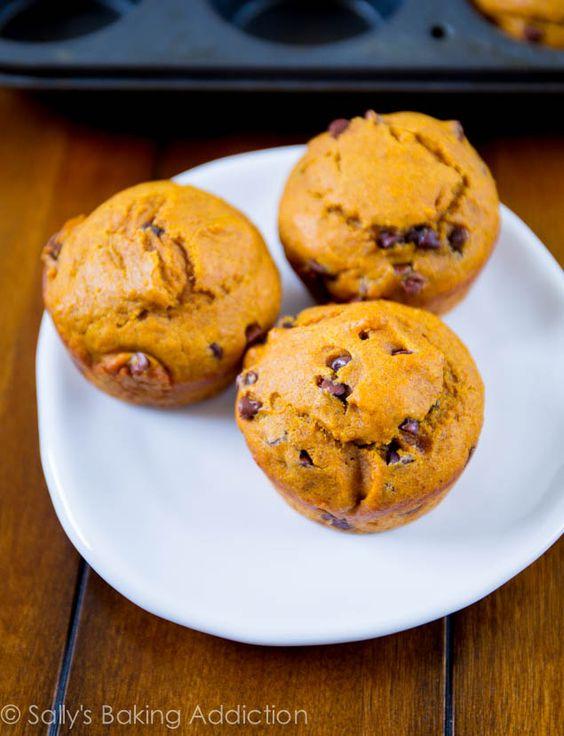 Pumpkin Cupcakes with Dark Chocolate Frosting | Sallys ...