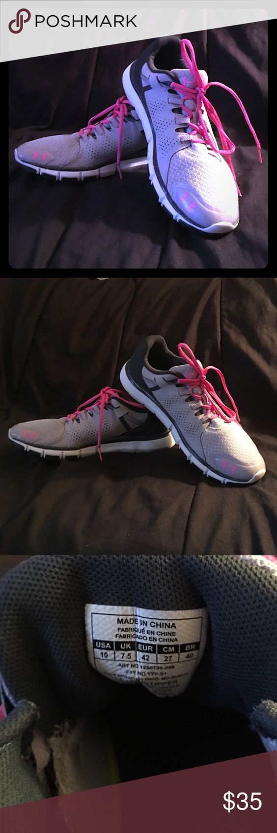Under Amour Athletic Shoes These tennis shoes are great for walking or running only worn a couple of times Under Armour Shoes Athletic Shoes