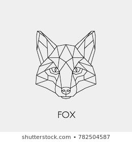 Abstract Linear Polygonal Head Of A Fox Vector Geometric Animal Tattoo Geometrische Tattoo Geometrische Tekening Abstract Tatoeages