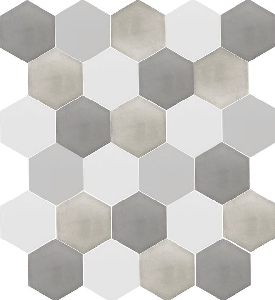 Beautiful varying coloured cement tiles