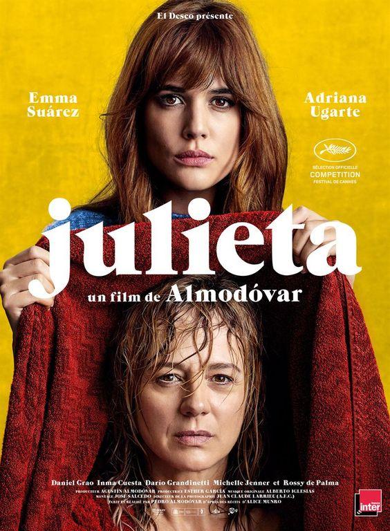 Julieta de P. Almodóvar (2016 - mai). Portraits de femmes, secrets et culpabilité le tout dans une  sobre tristesse ;-)