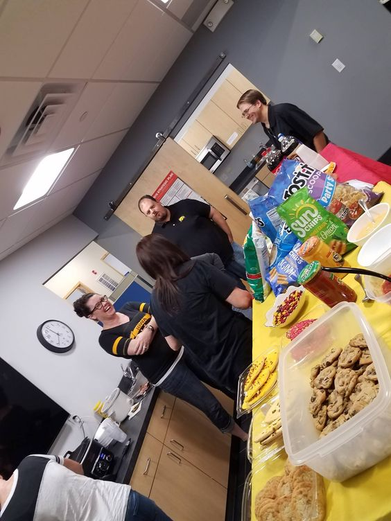 Friday Tailgate party for the 2016 Iowa Versus Iowa State game in our West Des Moines office!