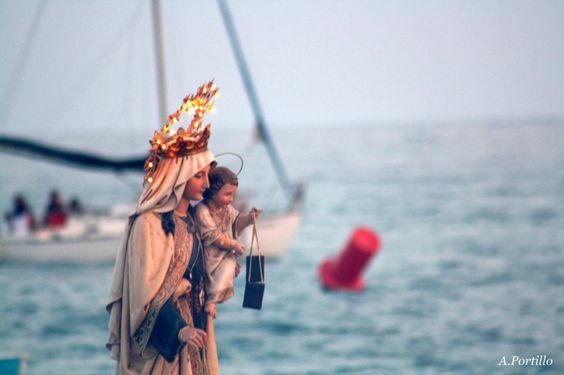 Procesión Virgen de El Carmen patrona de los pescadores se celebra el 16 de Julio MÁLAGA