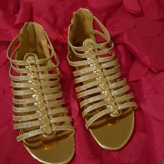 Fab kids New gladiator sandals Gold color,  very light Fabkids Shoes Sandals