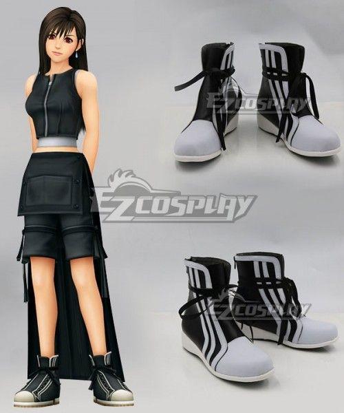 Final Fantasy VII Advent Children Tifa Lockhart Shoes Cosplay Boots