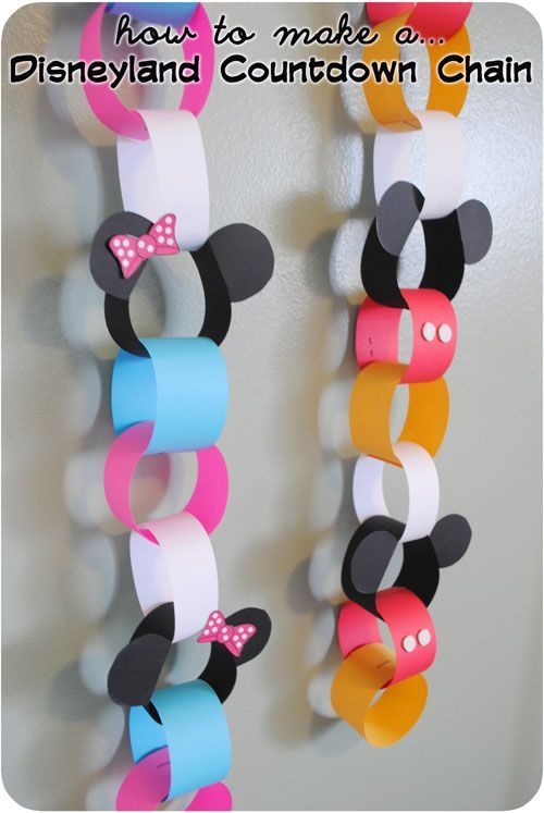Disney World / Disneyland Vacation Countdown Chain - Step by step instructions