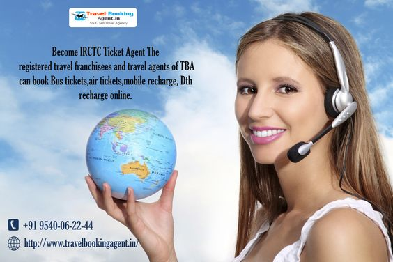 Become IRCTC Ticket Agent The registered travel franchisees and travel agents of TBA can book Bus tickets,air tickets,mobile recharge, Dth recharge online. Know more visit : http://www.travelbookingagent.in/