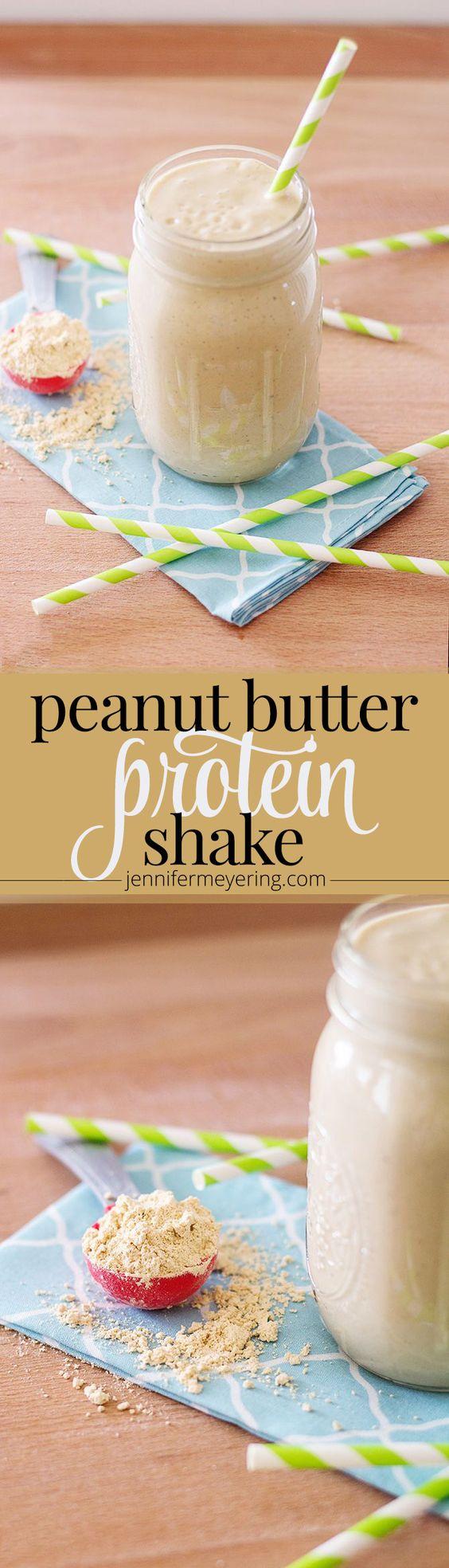 Peanut Butter Protein Smoothie   JenniferMeyering.com