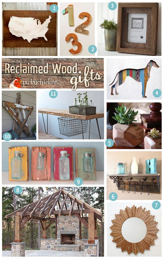 Reclaimed Wood Gift Ideas | PickyChicken.com