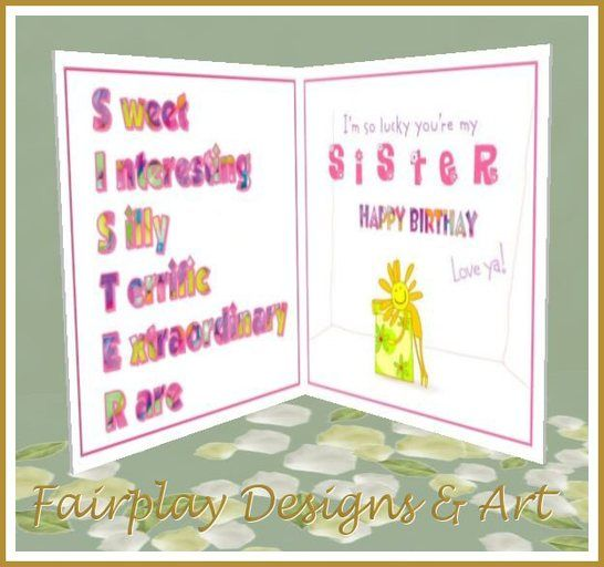 Facebook Birthday Cards For Sister