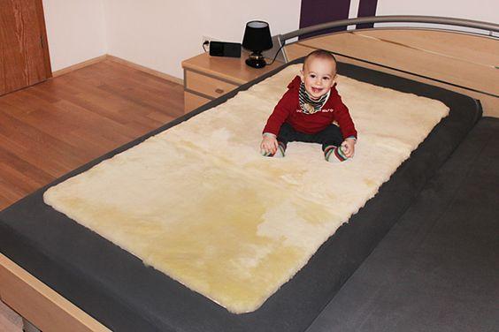 Felldecke als Unterbett 70 cm x 140 cm