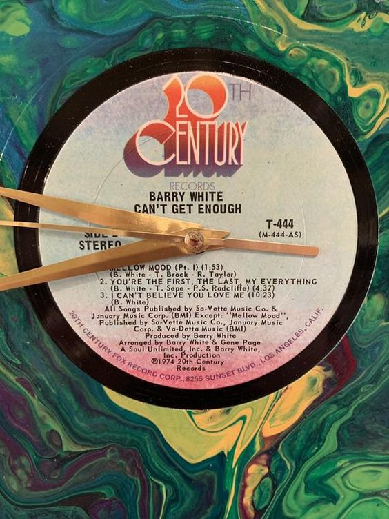 Barry White Record Album Wall Clocks Wall Decor Rock And Roll