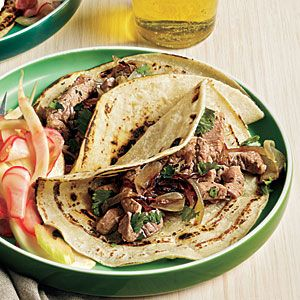 Chipotle pork tacos--from eating light