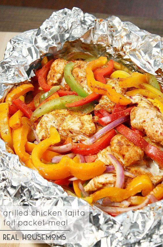 Chicken Fajita Foil Packet Meal