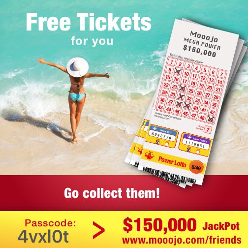 Here is a present for you. Win $150,000 next Saturday with these free lotto tickets! Claim your present at www.mooojo.com/friends and choose your lucky numbers. Your passcode is: 4vxl0t – Go get lucky too!