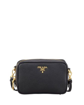 prada authentic shoes - Saffiano Mini Zip Crossbody Bag, Black (Nero) | Prada, Crossbody ...