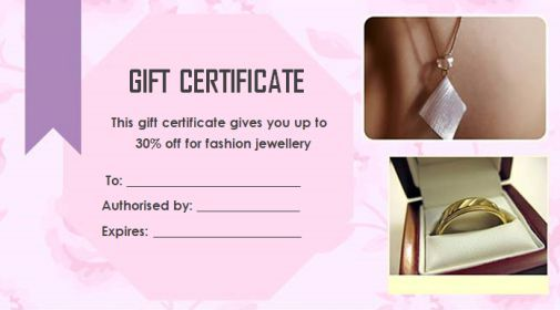 10 best this certificate entitles the bearer template images on gift certificate jewellery yelopaper Gallery