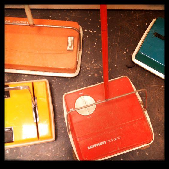 bristle hoover - we had an orange one: