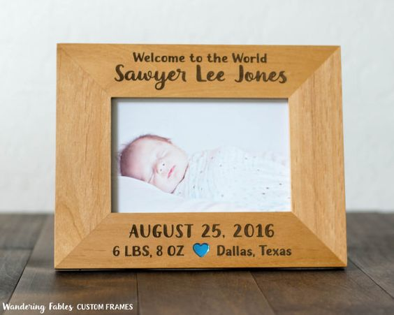 Personalized baby gift 4x6 picture frame birthdate and weight personalized baby gift 4x6 picture frame birthdate and weight location birth stats negle Images