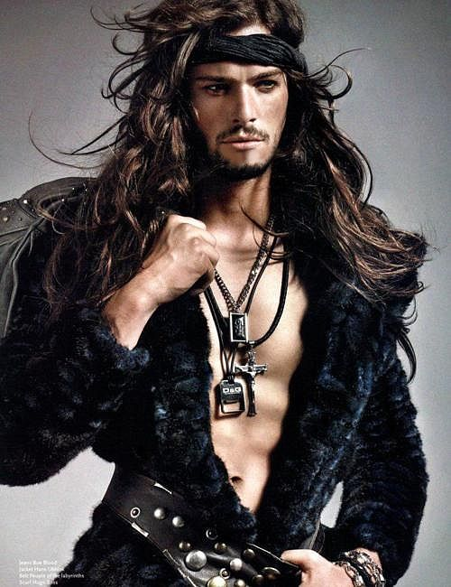 how to make long hair look good male