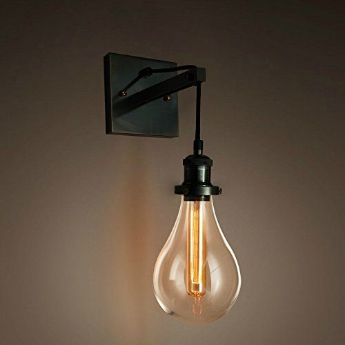 Purelume lustre style industriel tearbulb applique murale for Luminaire mural salon