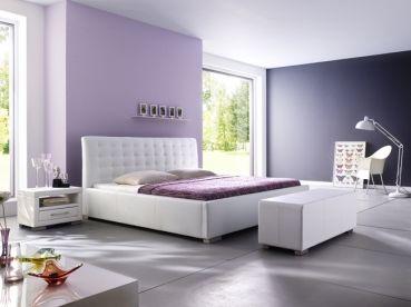 Polsterbett Kristine II  #weiß #Möbel #Polsterbett #Bett #Schlafzimmer