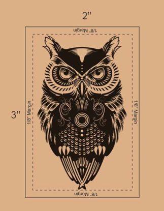 Owl Temporary Tattoo #tattooforaweek #strepik #owl #temporary #tattoo