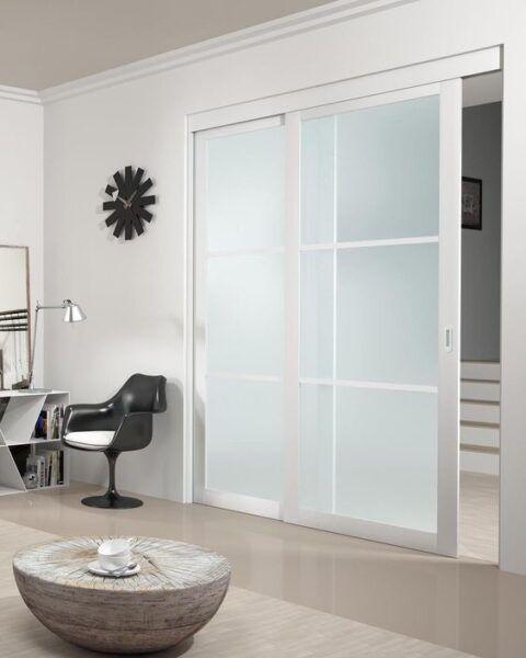 Puertas Corredizas Modernas Diseño De Casas Con Estilo Farmhouse Decor Living Room Doors Interior Modern Home Decor