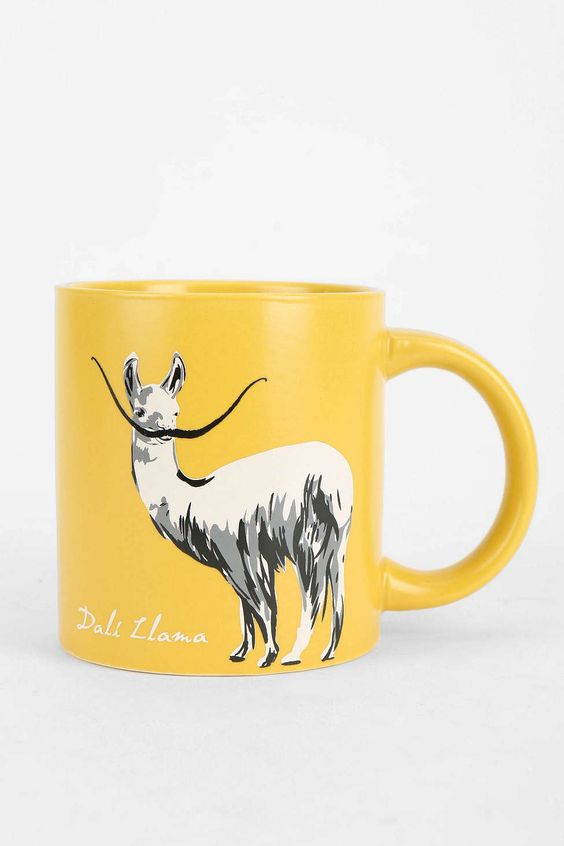 I heart puns. Dali Llama Mug.