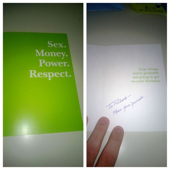 sex. power. money. respect.