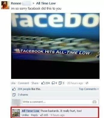 Dammit facebook! Violence is not always the answer!!
