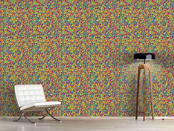Design #Tapete Kaleidoskop Spektren