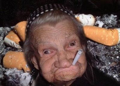 Funny old women ugly face