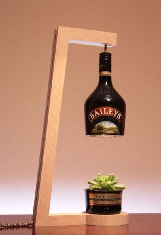 Baileys Lamp And Plant Stand Wooden Lamps Design Wine Bottle Lamp Bottle Lamp