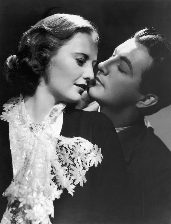 Barbara Stanwyck with Robert Taylor. They were married from 1939-1952)