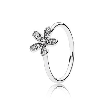 Sweet as a daisy, this sterling silver floral ring perfectly captures the innocent beauty of this unassuming flower. With its carefully crafted stone-studded leaves, this ring is gorgeous in its own rights but gains an extra dimension when stacking with the matching trinity ring. #PANDORA #PANDORAring