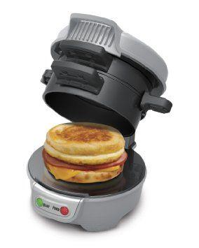 MMMM... breakfast sandwiches!!!!  Hamilton BeachBreakfast Sandwich Maker : Amazon.com : Kitchen & Dining