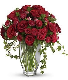 Rose Romanesque Bouquet - Red Roses: