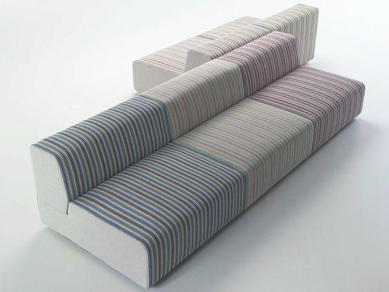 modular fabric sofa with removable cover Muffin, design Piero ...