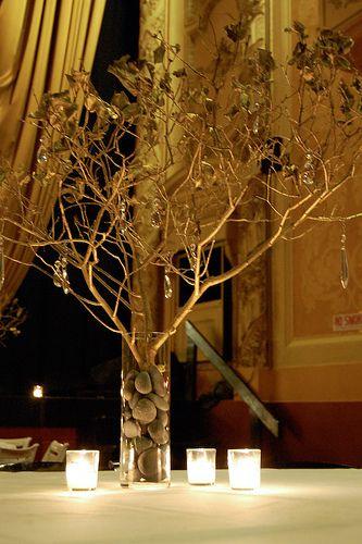 Fall tree centerpiece