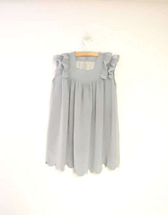 Vintage Baby Clothes 1920's Handmade Dusty Blue by BabyTweeds: