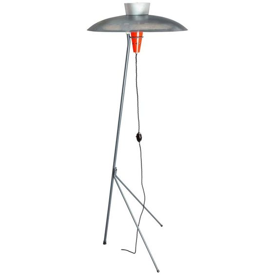 Louis Kalff Nx 38 Floor Lamp For Phillipps 1957 Floor Lamp Floor Standing Lamps Modern Floor Lamps