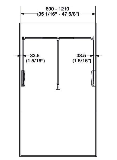 Heavy Duty Pull Down Closet Rod In Closet Rods And Brackets Closet Rod Closet Rods Rod