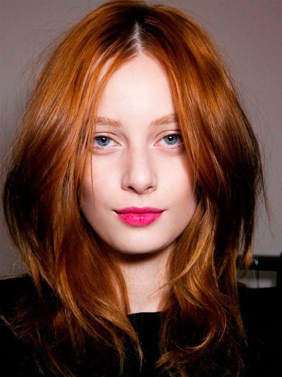 red hair: