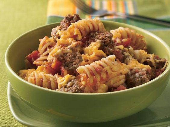 Rotini pasta and ground beef recipes