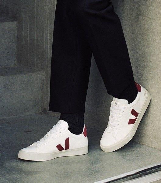 Veja Sneaker Damen Campo Leather White Marsala in 2020