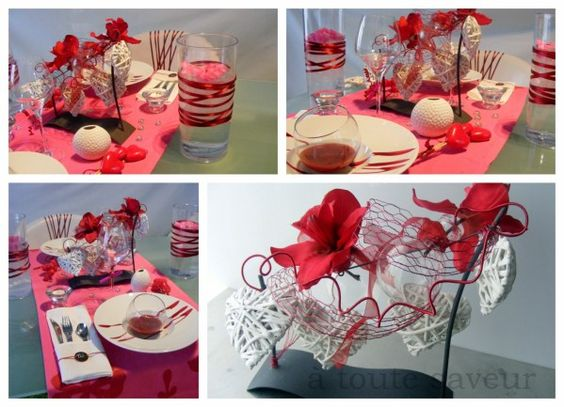 Deco de table saint valentin id es de for Deco table st valentin