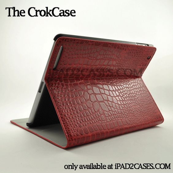 The CrokCase for iPad 2 - available in a variety of colors. Color shown: Red