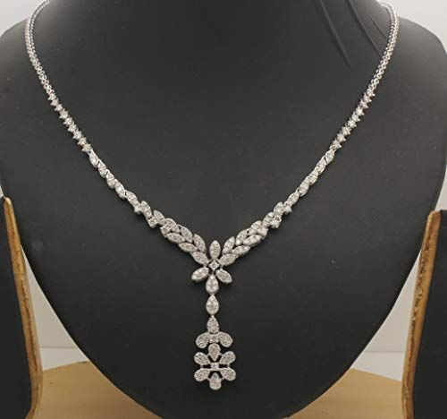 28 80ct Lab Diamond Tennis Necklace Certified Tennis Necklace Diamond Tennis Necklace Diamond Necklace